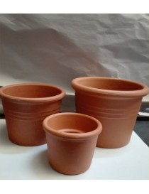 Vaso Ceramica Bordato